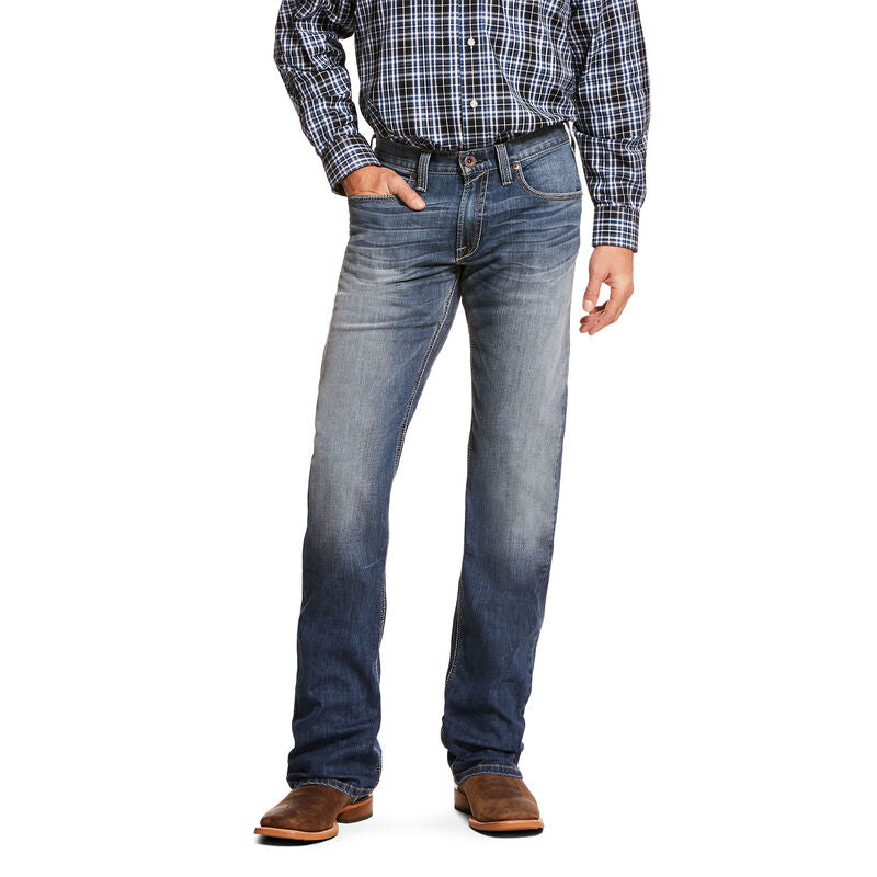 Ariat Mens M5 Slim TekStretch Bookie Stackable Straight Leg Jean
