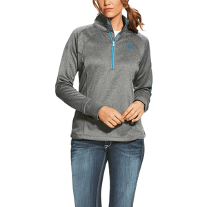 ARIAT Ladies Tek Team 1/4 Zip Pull Over – Charcoal