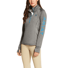 Load image into Gallery viewer, ARIAT Ladies Tek Team 1/4 Zip Pull Over – Charcoal
