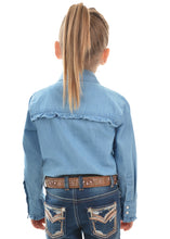 Load image into Gallery viewer, Thomas Cook Pure Western Girl's Darcy Chambray Frill L/S Shirt