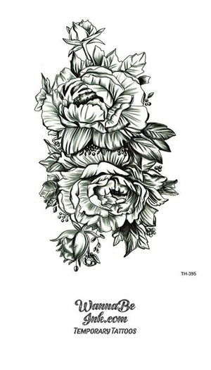2 Detailed Rose Blossoms Best Temporary Tattoos
