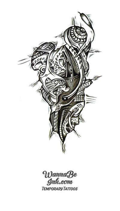 Biomechanical Internals Best Temporary Tattoos