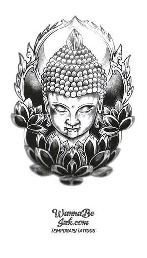 Buddha And Lotus Blossom Shrine Best Temporary Tattoos