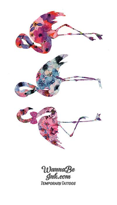 Colorful Flamingos 3 Best Temporary Tattoos