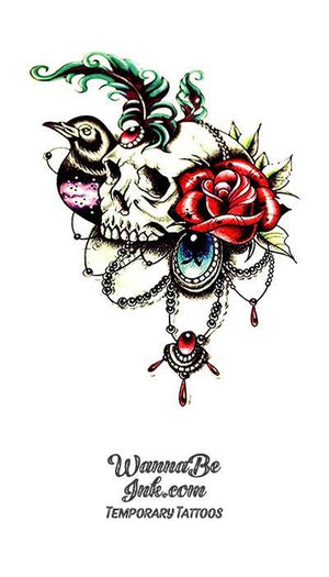 Decorated Skulls Best Temporary Tattoos