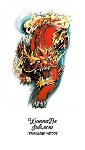 Red Dragon Stalking Best Temporary Tattoos