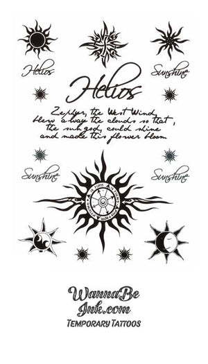 Suns on Proverbs Best Temporary Tattoos