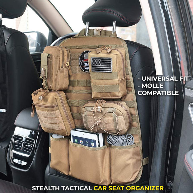Stealth™ Tactical MOLLE Car Seat Organizer