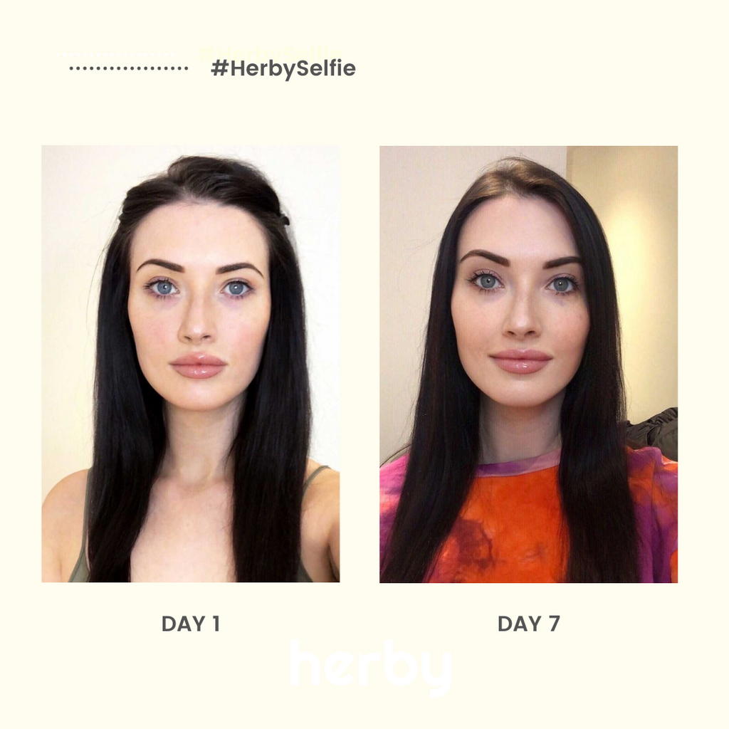 See what 7 days can do #HerbySelfie