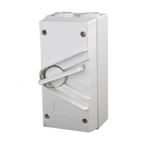 3 Pole 63A Weatherproof Isolator Switch - Star Sparky Direct