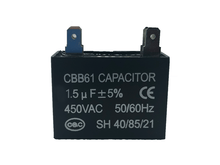 Load image into Gallery viewer, Air Conditioning Capacitor 1.5uf CBB61 - Star Sparky Direct