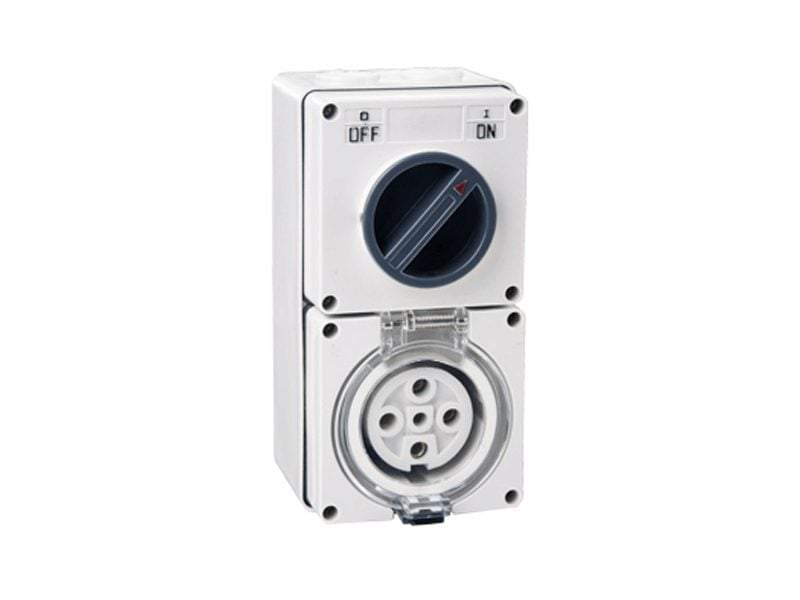 5 Pin 32 AMP Combination Switched Socket - Star Sparky Direct