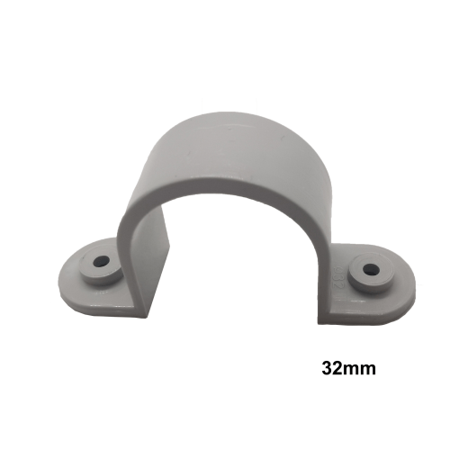100 x 32mm PVC Saddle Grey Conduit Fittings - Star Sparky Direct