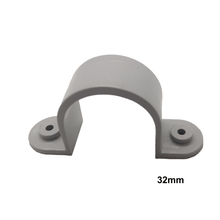 Load image into Gallery viewer, 100 x 32mm PVC Saddle Grey Conduit Fittings - Star Sparky Direct