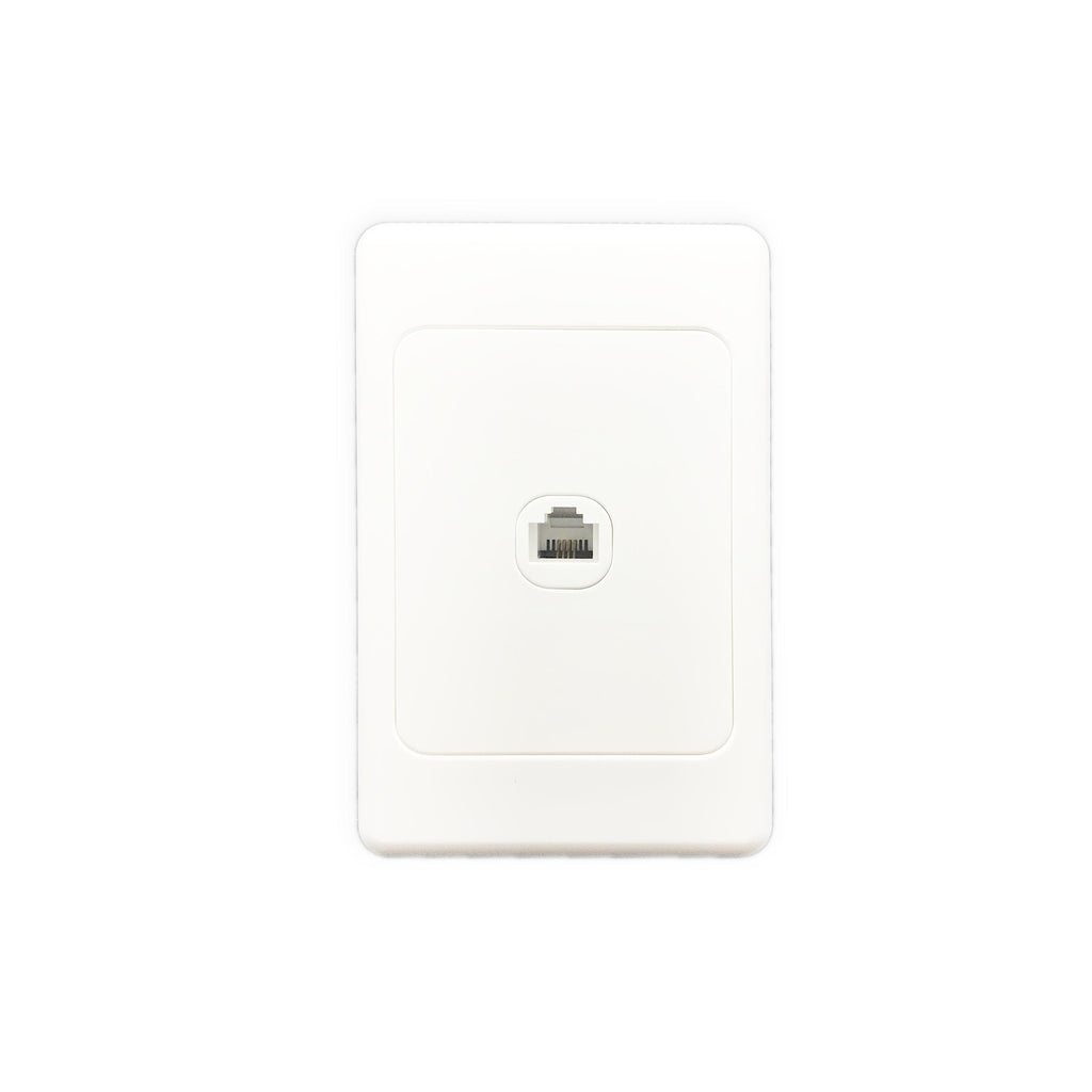 1 Gang Telephone Socket Wall Plate - Star Sparky Direct