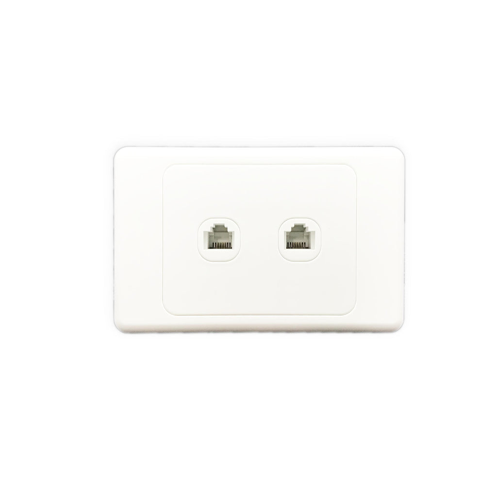 2 Gang 4 Core Telephone Outlet Socket - AS325 - Star Sparky Direct