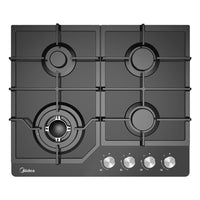 Midea Gas Cooktop Glass Hob 60cm Black MCG601GBL - Star Sparky Direct
