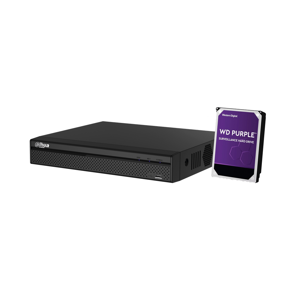 Dahua 8 Channel 1U 4PoE 4K & H.265 Lite Network Video Recorder + 4TB HHD - Star Sparky Direct