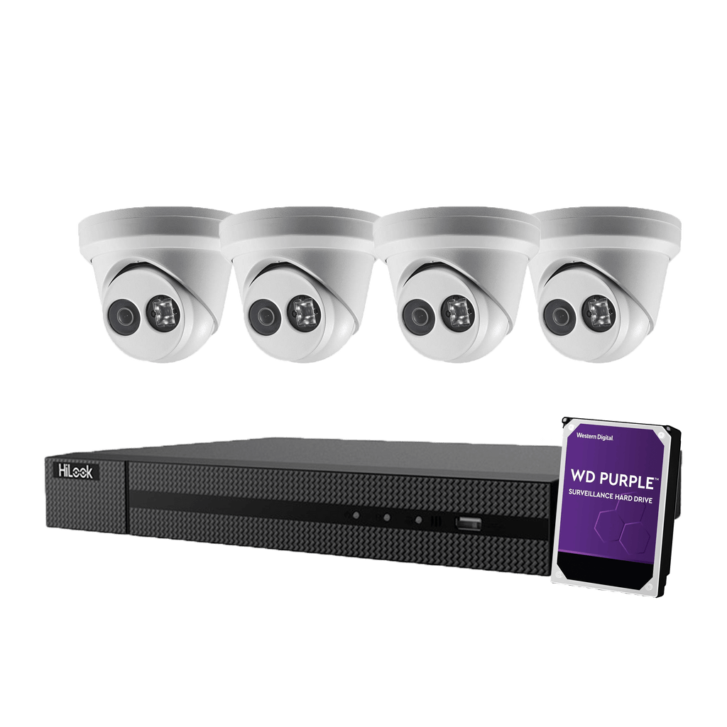 Hikvision Hilook 4 x 6MP Turret Kit with 4CH NVR + 2TB HDD - Star Sparky Direct