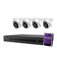 Load image into Gallery viewer, Hikvision Hilook 4 x 4MP Turret Kit with 4CH NVR