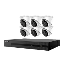 Load image into Gallery viewer, Hikvision Hilook 6 x 4MP Turret Kit with 8CH NVR