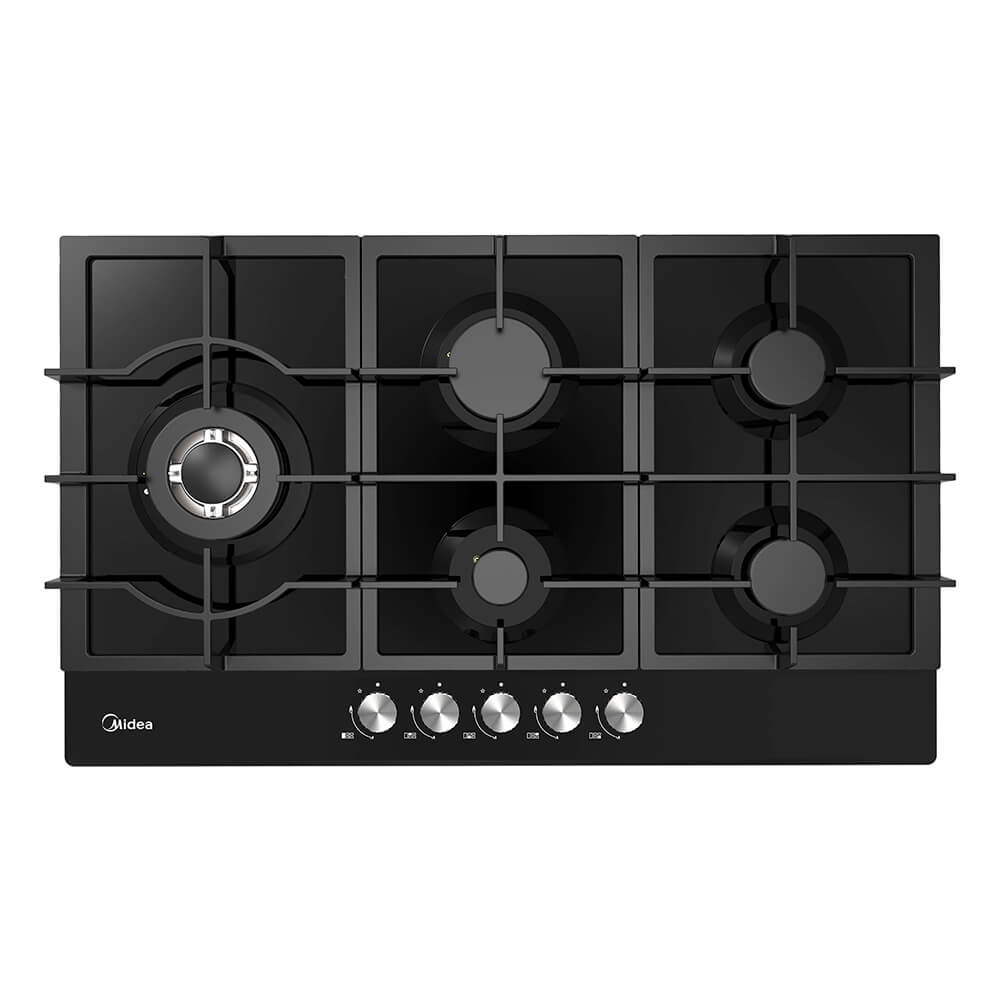 Midea Gas Glass Cooktop 90cm MCG90GBL - Star Sparky Direct