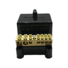 Load image into Gallery viewer, 7 Hole Neutral Link with black cover 100amp - Star Sparky Direct