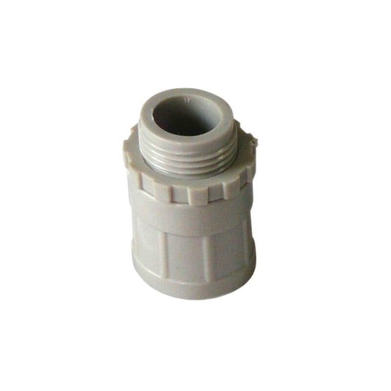 25mm Plain to Screwed Adaptor with Locking Ring Conduit Screw - Star Sparky Direct
