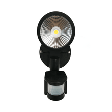 Load image into Gallery viewer, Starco 12W LED Single Head Spotlight Black with Sensor - Star Sparky Direct