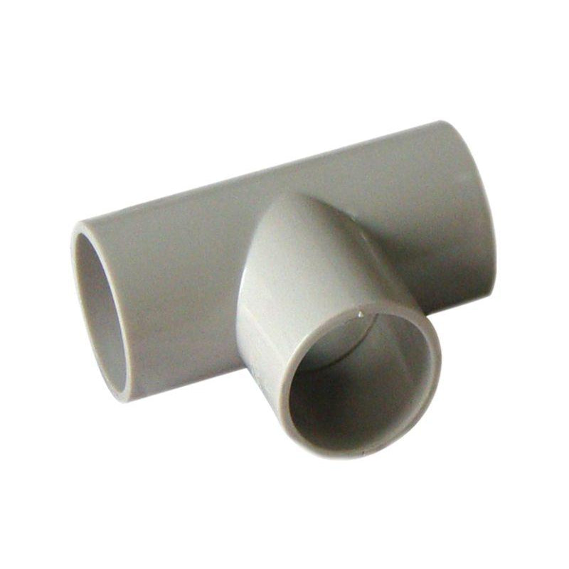 20mm PVC Straight Tee Grey - Star Sparky Direct