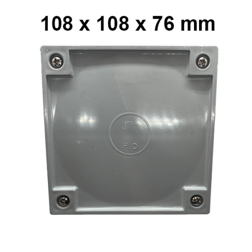 Adaptable Weatherproof Electrical Junction Box - 108x108x76mm - Star Sparky Direct