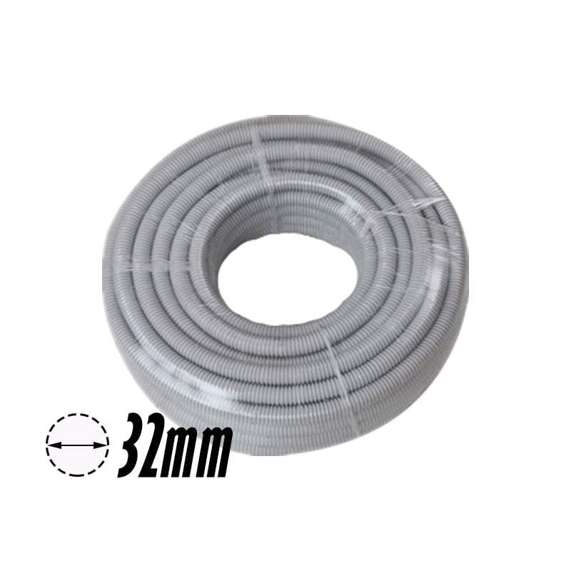 32mm PVC Corrugated Conduit Duct Medium Duct Grey - 25mtr/Roll - Star Sparky Direct