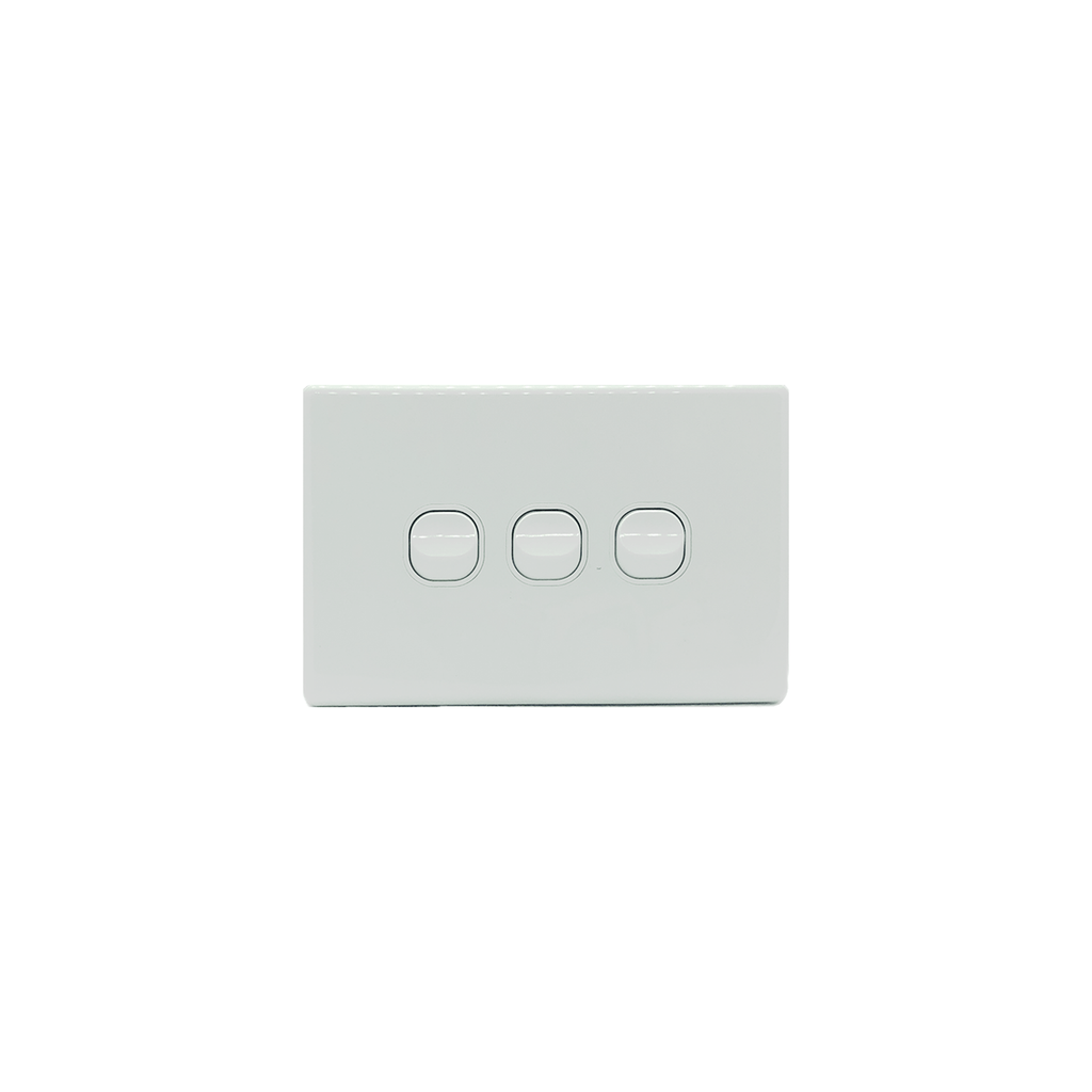 3 Gang Light Switch 10A 250V-KS306 - Star Sparky Direct