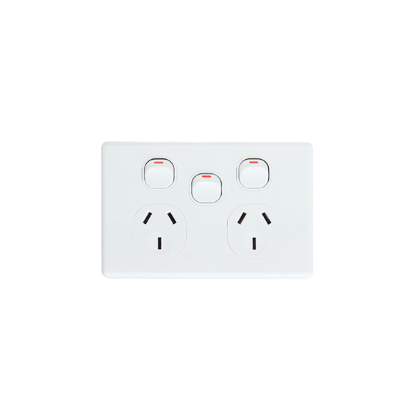 Double Power Point with Extra Switch 10A - KS316 - Star Sparky Direct