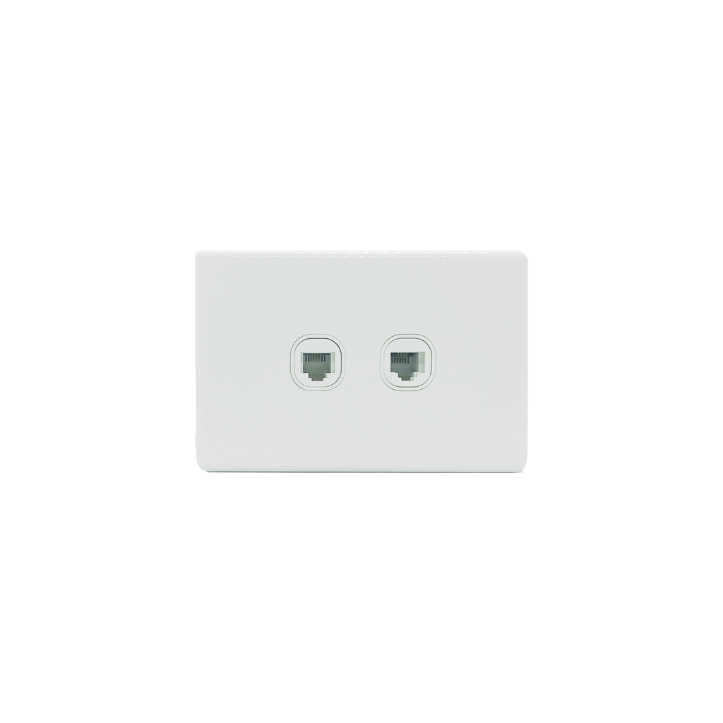 2 Gang 4 Core Telephone Outlet Socket - KS325 - Star Sparky Direct