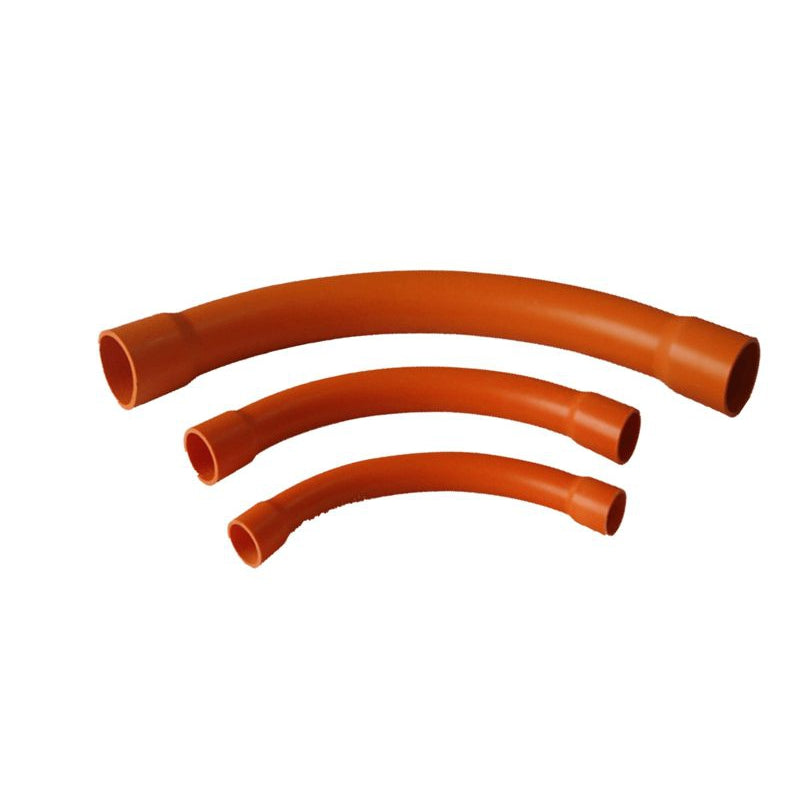 20mm 90° PVC Sweep Bend Orange Heavy Duty - Star Sparky Direct