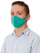 Load image into Gallery viewer, Reusable Face Mask with Single Ply Poly Cotton - Made in the USA, Light Weight Stretchable Ear Loop with Fluid Resistance, Machine Washable (10 Pack - Adult - Green)