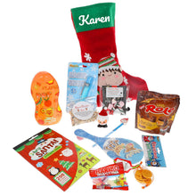 Load image into Gallery viewer, Kids Personalised Christmas Eve Filled Christmas Elf Stocking - Always Looking Good UK