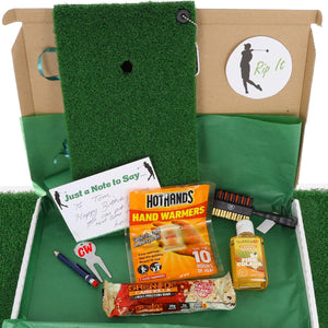 Personalised Golf Lover Winter Mat Gift Set