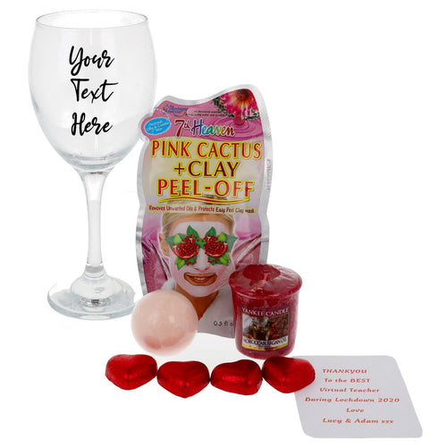 Wine Glass Personalised & Filled with Goodies - Always Looking Good UK