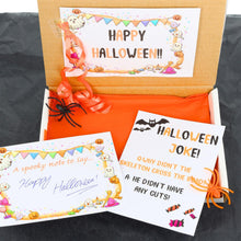Load image into Gallery viewer, Halloween Trick or Treat Gift Box with Colouring Pencils