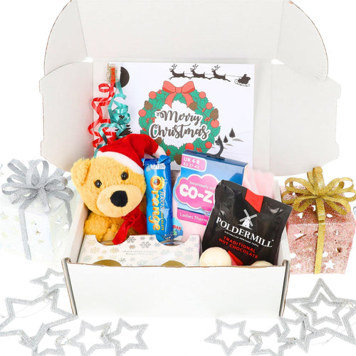 Christmas Teddy and Pamper Gift Box - Always Looking Good UK