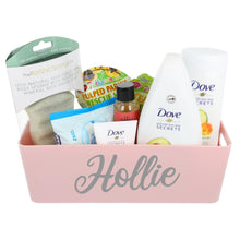 Load image into Gallery viewer, Dove Bath Time Filled Personalised Pink Storage Box