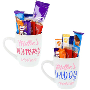 Personalised Mugs Couples Set of Two Filled or Empty