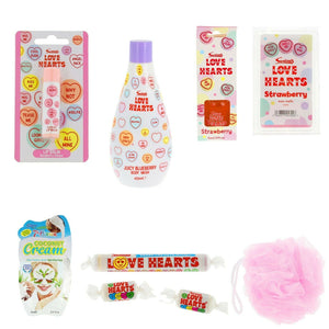 Love Heart Sweets Pamper Hamper Gift Box - Always Looking Good UK