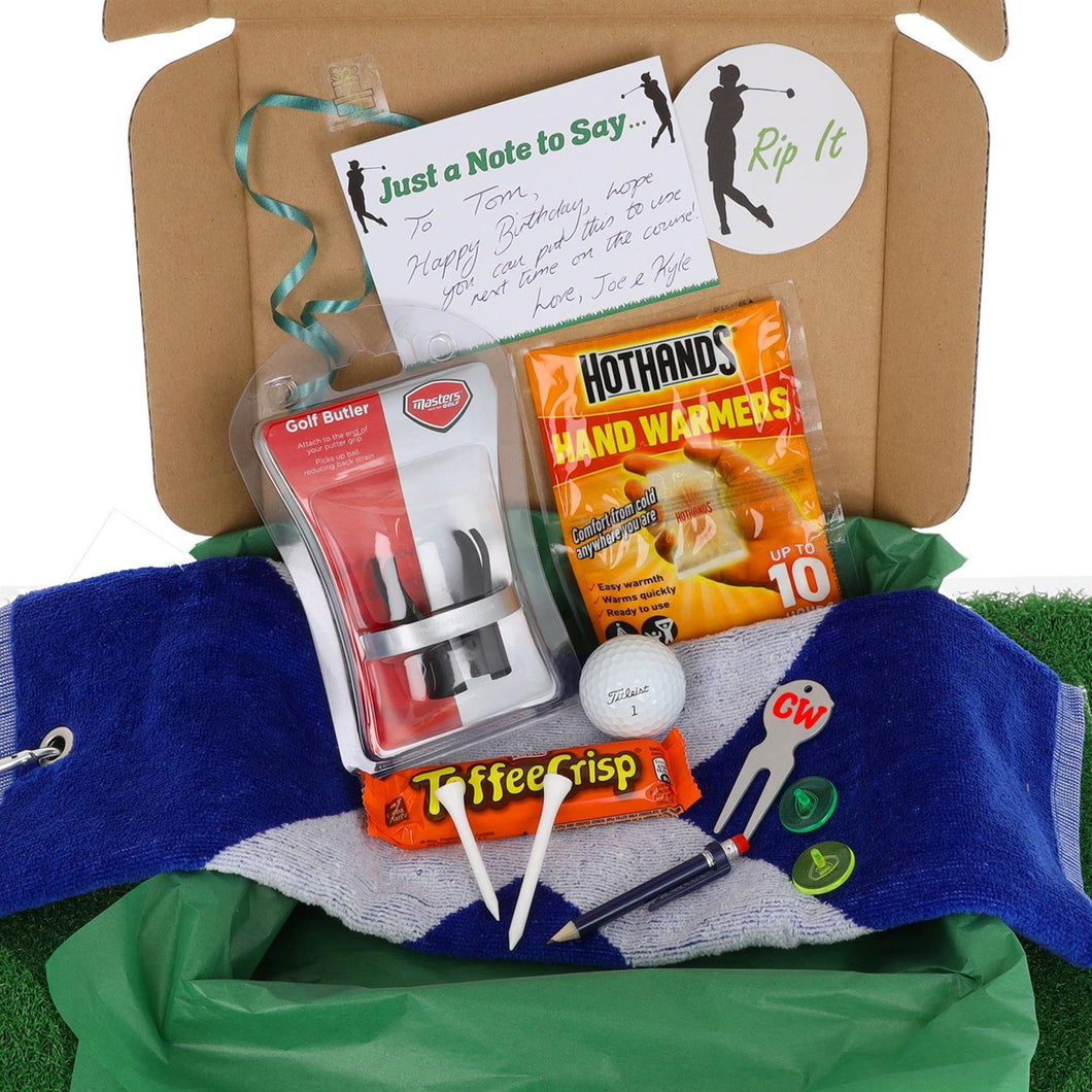 Personalised Deluxe Golf Lovers Accessory Gift Set - Always Looking Good UK