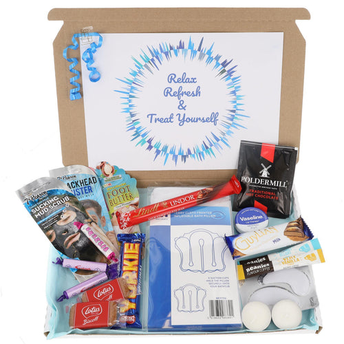 Mens Chocolate Lover Pamper Filled Large Treat Box - Always Looking Good UK