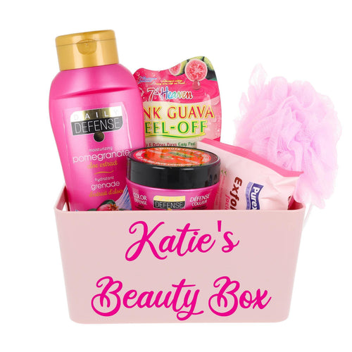 Daily Defense Bath Time Filled Personalised Pink Storage Caddy - Always Looking Good UK