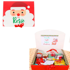 Personalised Kids Christmas Eve Box Filled with Activities and Personalised Tree Bauble