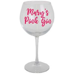 Gin Glass Personalised & Filled with Goodies - Always Looking Good UK
